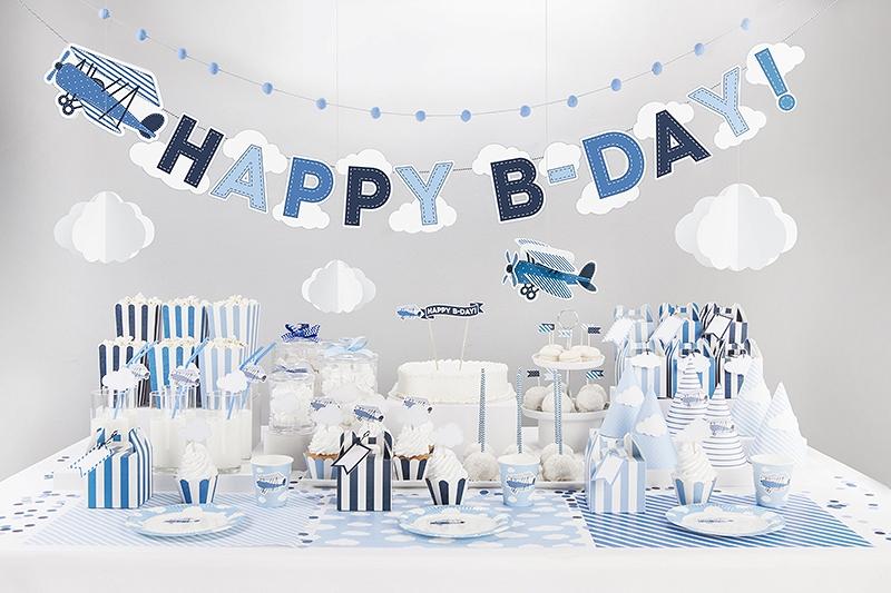 1f6db8733f4f59 Baner urodzinowy Samolot - niebieski .*